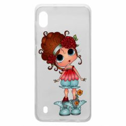 Чехол для Samsung A10 Girl with big eyes