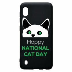 Чехол для Samsung A10 Happy National Cat Day