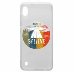 Чехол для Samsung A10 I want to believe text