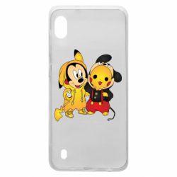 Чехол для Samsung A10 Mickey and Pikachu