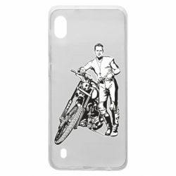 Чехол для Samsung A10 Mickey Rourke and the motorcycle