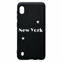 Чехол для Samsung A10 New York and stars