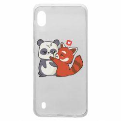 Чохол для Samsung A10 Panda and fire panda