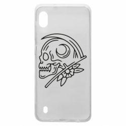 Чохол для Samsung A10 Skull with scythe