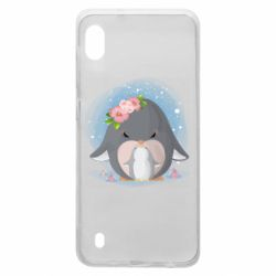 Чехол для Samsung A10 Two cute penguins