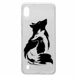 Чехол для Samsung A10 Wolf And Fox