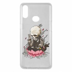 Чехол для Samsung A10s A skeleton sitting on a lotus
