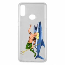 Чехол для Samsung A10s Aquaman with a shark