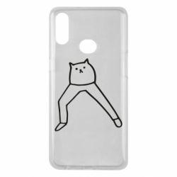 Чохол для Samsung A10s Cat in pants