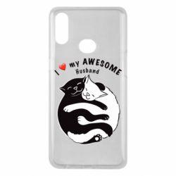 Чехол для Samsung A10s Cats and love