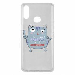Чехол для Samsung A10s Cute cat and text