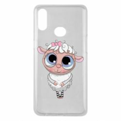 Чехол для Samsung A10s Cute lamb with big eyes