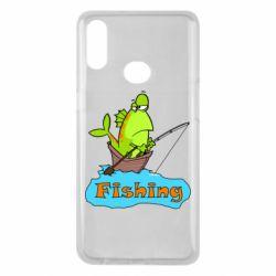 Чехол для Samsung A10s Fish Fishing