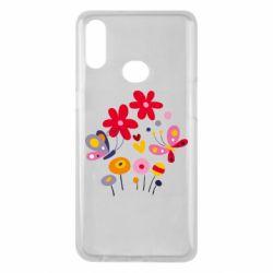Чехол для Samsung A10s Flowers and Butterflies