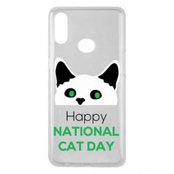 Чехол для Samsung A10s Happy National Cat Day