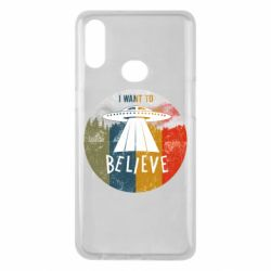 Чехол для Samsung A10s I want to believe text