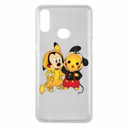 Чехол для Samsung A10s Mickey and Pikachu