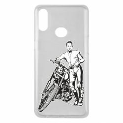 Чехол для Samsung A10s Mickey Rourke and the motorcycle