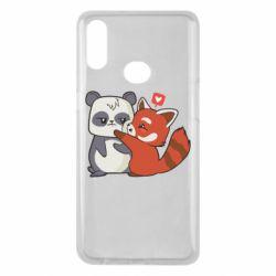 Чохол для Samsung A10s Panda and fire panda