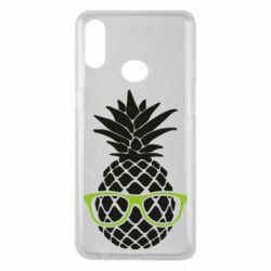 Чехол для Samsung A10s Pineapple with glasses