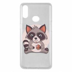 Чохол для Samsung A10s Raccoon with cookies