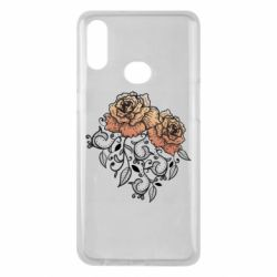 Чохол для Samsung A10s Roses with patterns