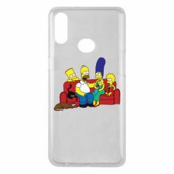 Чехол для Samsung A10s Simpsons At Home