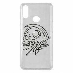 Чохол для Samsung A10s Skull with scythe