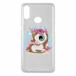 Чохол для Samsung A10s Unicorn with flowers