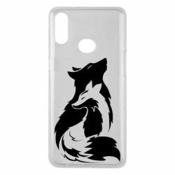 Чехол для Samsung A10s Wolf And Fox
