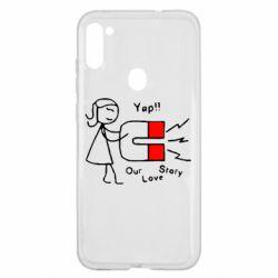 Чехол для Samsung A11/M11 2302Our love story2