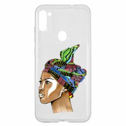 Чохол для Samsung A11/M11 African girl in a color scarf