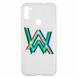 Чехол для Samsung A11/M11 Alan Walker multicolored logo