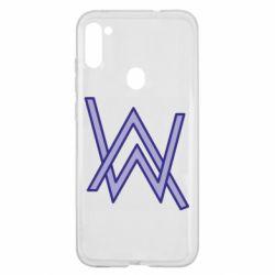 Чехол для Samsung A11/M11 Alan Walker neon logo