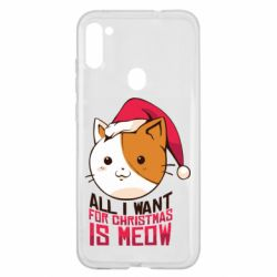 Чехол для Samsung A11/M11 All i want for christmas is meow