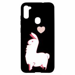 Чохол для Samsung A11/M11 Alpaca with a heart