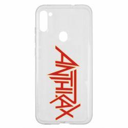 Чехол для Samsung A11/M11 Anthrax red logo