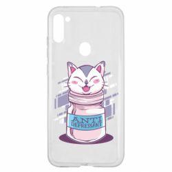 Чехол для Samsung A11/M11 AntiDepressant Cat