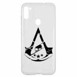 Чехол для Samsung A11/M11 Assassin's Creed and skull 1