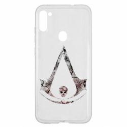 Чехол для Samsung A11/M11 Assassins Creed and skull