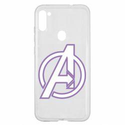 Чехол для Samsung A11/M11 Avengers and simple logo