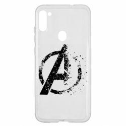 Чехол для Samsung A11/M11 Avengers logotype destruction