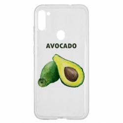 Чехол для Samsung A11/M11 Avocado watercolor