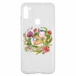 Чехол для Samsung A11/M11 Baby and flowers
