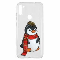 Чохол для Samsung A11/M11 Baby penguin with a scarf