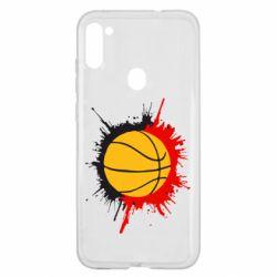 Чехол для Samsung A11/M11 Баскетбольный мяч