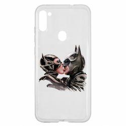 Чехол для Samsung A11/M11 Batman and Catwoman Kiss