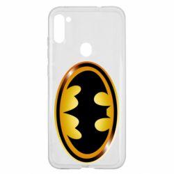 Чохол для Samsung A11/M11 Batman logo Gold