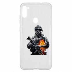 Чехол для Samsung A11/M11 Battlefield Warrior