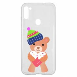 Чехол для Samsung A11/M11 Bear and gingerbread